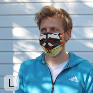 Beispiele, wie ihr die Masken bemalen könnt.